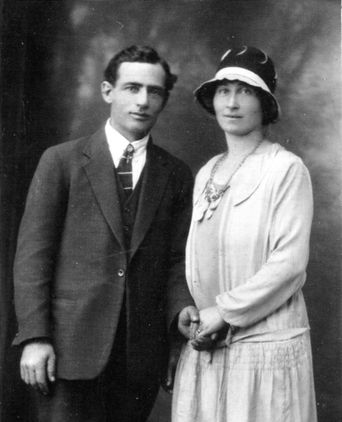 wedding photo of Luigia (Gina) and Angelo Pastega