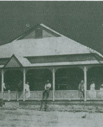 The Mt. Adrah homestead and hotel, rebuilt in 1916. This photograph was taken about 1920.
