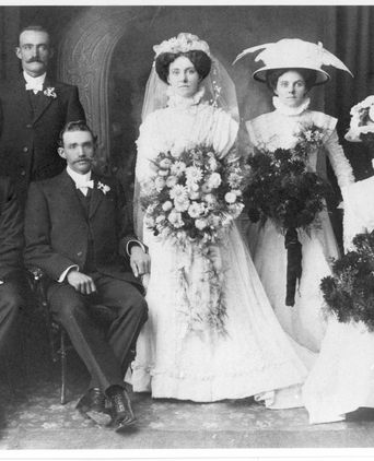 Bertha and wedding party