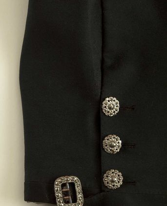 Detail of breeches showing buckle and three buttons. Photo:© Alex Kershaw