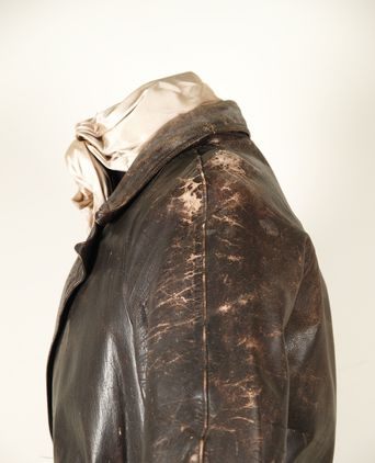 Leather deterioration on the coat shoulder