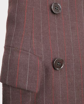 Detail of buttons and pocket on jacket.