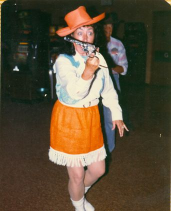 Pauline Harvey at Country and Western Night in 1983