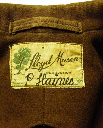 Maker's label with owner's name P Haines