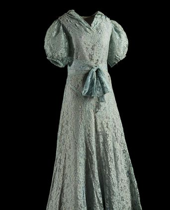 June's blue lace bridesmaid's dress c1940. Photo: © Alex Kershaw