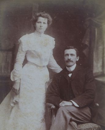 Louisa Killeen and George Wane on their wedding day